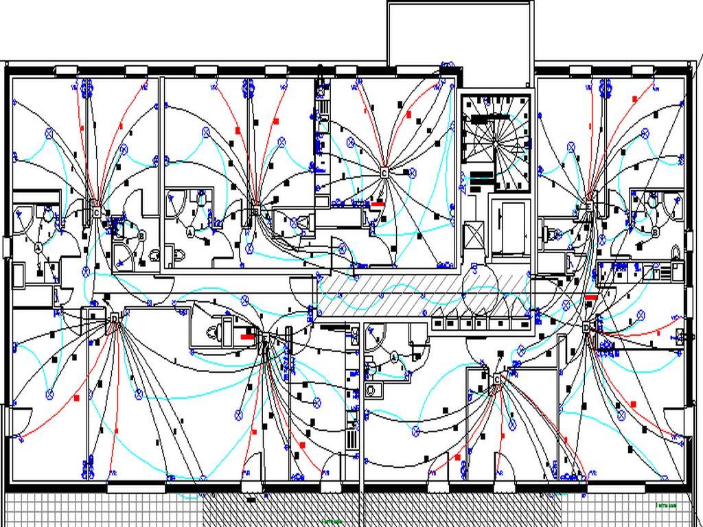 Plan des pieuvres pour les appartaments en FAUX PLAFOND