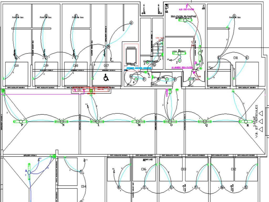 Plan des pieuvres du SSOL pour les appartaments en PREDALLE