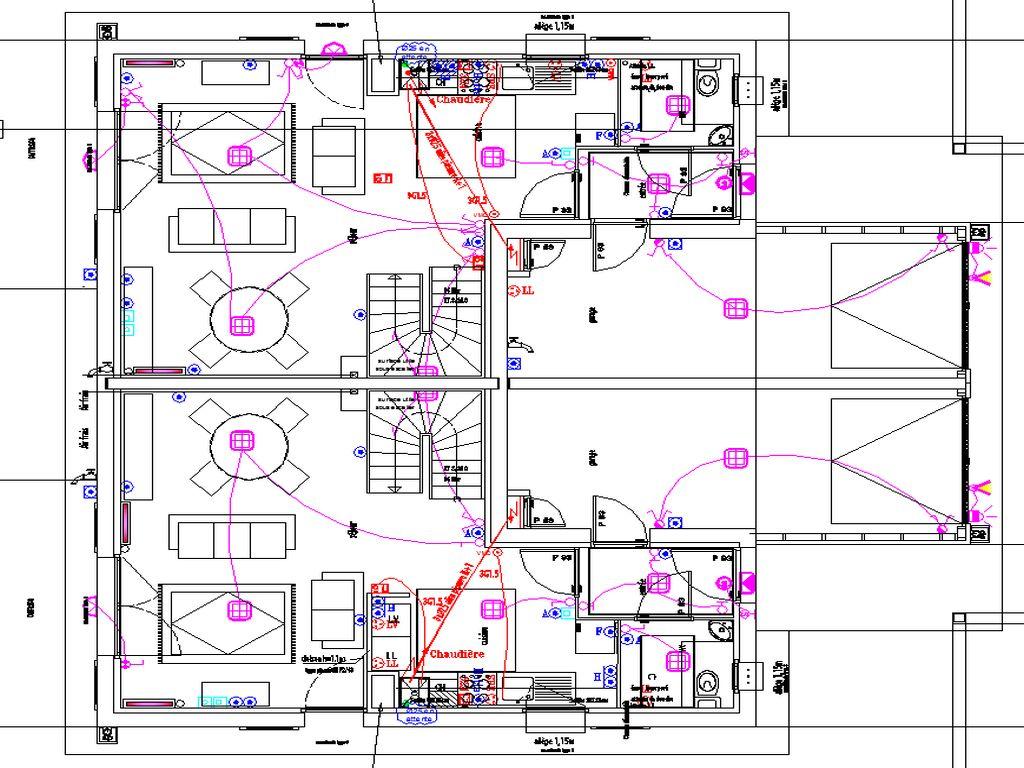 Plans d'implantations électriques des VILLAS - RDC